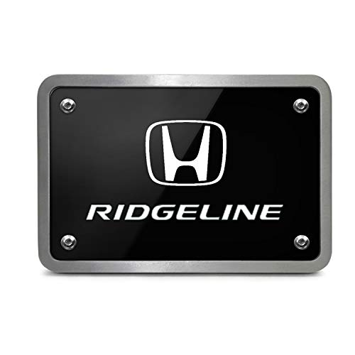 iPick Image Honda Ridgeline UV Graphic Black Billet Aluminum 2 inch Tow Hitch Cover