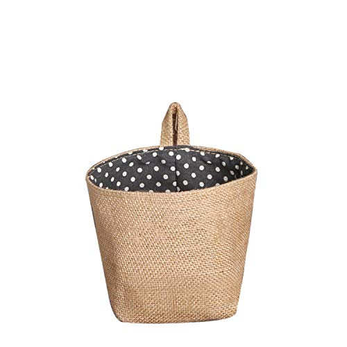 HuaHua-Store 1Pc 1412.5Cm Polka Dot Small Cloth Hanging Non Woven Storage Basket Non-Woven Fabric Storage ()