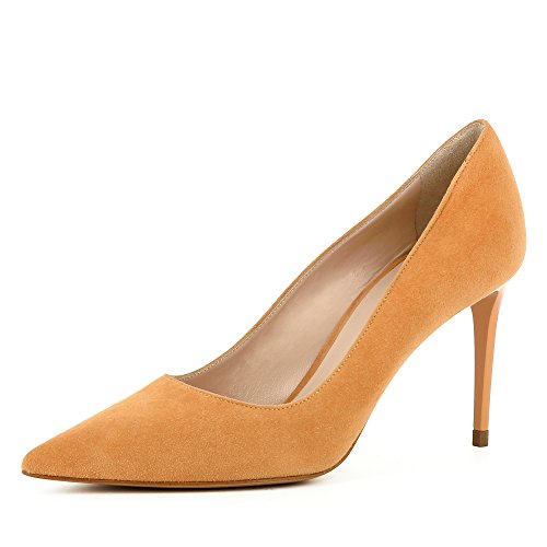 Femme Shoes Daim Escarpins Jessica Orange Evita YHdx6tx
