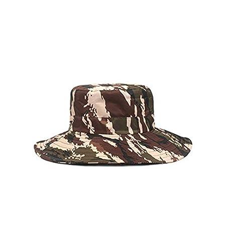 Cdet 1 x Cappello da Pescatore Moda Mimetico Casual Cappello Primavera e Estate attivit/à allAria Aperta Viaggio Campeggio Pesca Protezione Solare Cappello per Uomo Donna 58cm Arancione