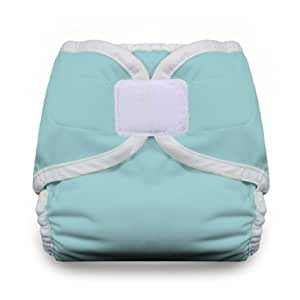 Thirsties Diaper Cover with Hook and Loop, Aqua, Large