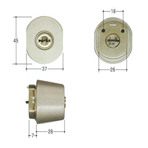単品新日軽 勝手口 エアパス6型 MIWA URシリンダー LZ-2 キー3本付属 鍵 交換 取替え 主な使用ドア:エアパス6型 MCY-246 B01I2GN5QE