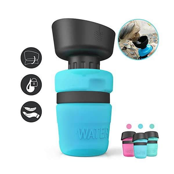 lesotc Pet Water Bottle for Dogs, Dog Water Bottle Foldable, Dog Travel Water Bottle, Dog Water Dispenser, Lightweight & Convenient for Travel BPA Free 1