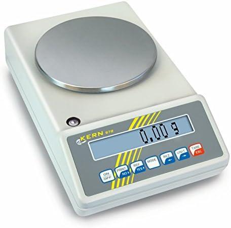 Präzisionswaage [Kern 573-46NM] Allrounder z. B. als Laborwaage, Zählwaage, Kontrollwaage, mit Eichzulassung [M], Wägebereich [Max]: 6500 g, Ablesbarkeit [d]: 0,1 g, Reproduzierbarkeit: 0,1 g, Linearität: 0,2 g, Wägeplatte: BxT 160x200 mm (Edelstahl)