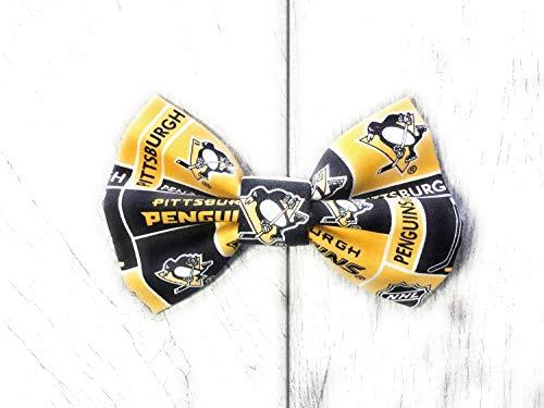 (Precious Paw Prints Boutique Pittsburgh Penguins Dog + Cat Bowtie (Large))