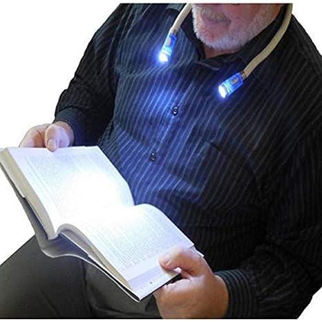 Domeilleur LED Hug Light Flexible Manos Libres LED Cuello Luz LED Lectura Lampara Recargable Libro Lectura Linterna Nocturna Camping Luz para Ni/ños Viajes o Barbacoa Tejido Reparaci/ón Manualidades