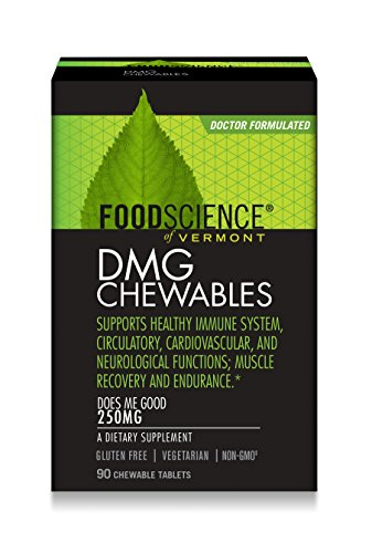 FoodScience of Vermont DMG Chewables, 250 mg Aangamik DMG Immune System Support, 90 Chewable (Dmg 90 Tablets)