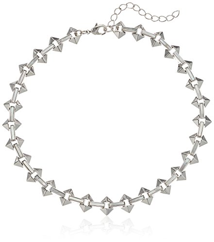 Noir Jewelry Milky Moon Silver Choker Necklace by nOir Jewelry