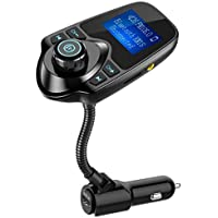 Nulaxy Bluetooth Car FM Transmitter Audio Adapter...