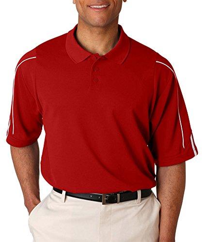 Adidas Men's 3-Stripes Contrast Piping Polo Shirt, Cardinal/Wht, Medium