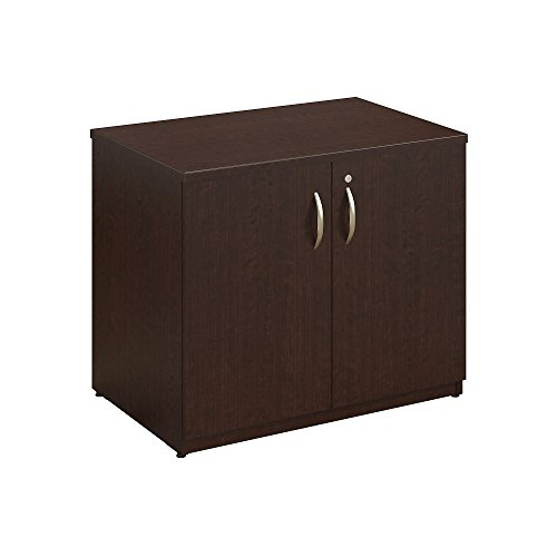 Easy Office 36W Storage Cabinet with Doors and Shelves in Mocha Cherry (Affordable Furniture Online)