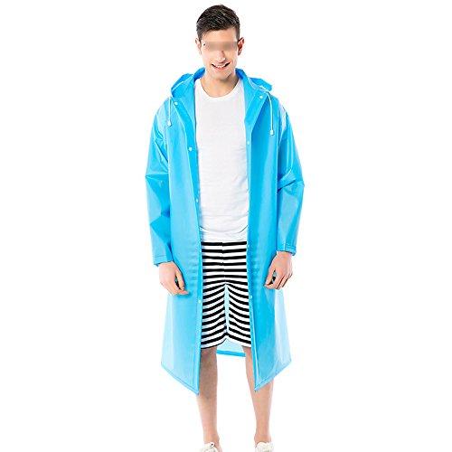 4 Da Yuyi Lunga Abbigliamento Blu Adulti Impermeabile Pioggia Antipioggia Con Disponibili Uomo Donna Campeggio Zzhf A Per Poncho Copertura Cappuccio Colori E CzvWwO1dUq