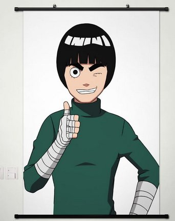 Wall Scroll Poster Fabric Painting For Anime Naruto Rock Lee A306 L