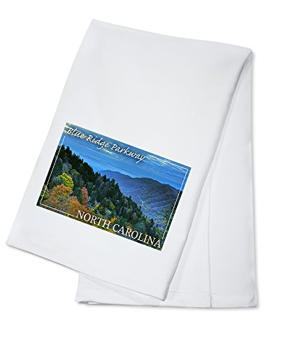 Blue Ridge Parkway - North Carolina - Great Smokey Mountains (100% Cotton Kitchen Towel) (Blue Ridge Parkway Best Time Of Year)