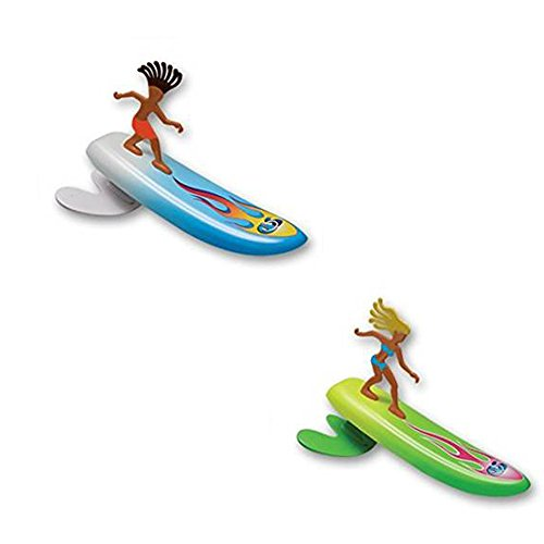 Surfer Dudes Wave Powered Mini-Surfer and Surfboard Toy - 2 Pack - Alice and Hank