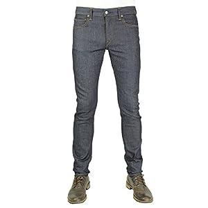 HIROSHI KATO Jeans Men's The Needle Skinny Raw 10.5 oz 4-Way Stretch Selvedge Denim Skinny Fits Made in USA