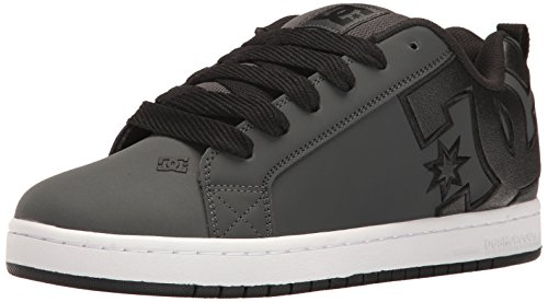 DC Men's Court Graffik SE Skateboarding Shoe Grey/White cheap price top quality choice cheap online Y4TXDKP