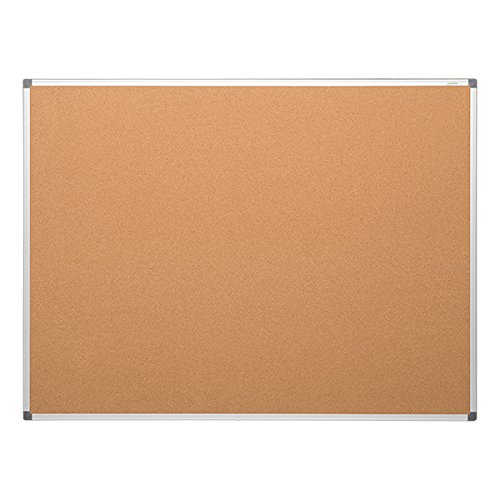 Learniture LNT-127-4872-SO  Natural Cork Board w/ Aluminum Frame, Brown by Learniture