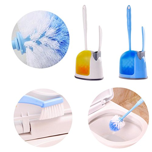 Transer Compact Toilet Bowl Brush and Small Sink with Holder Brush Set (random color) (Install Bowl Sink)