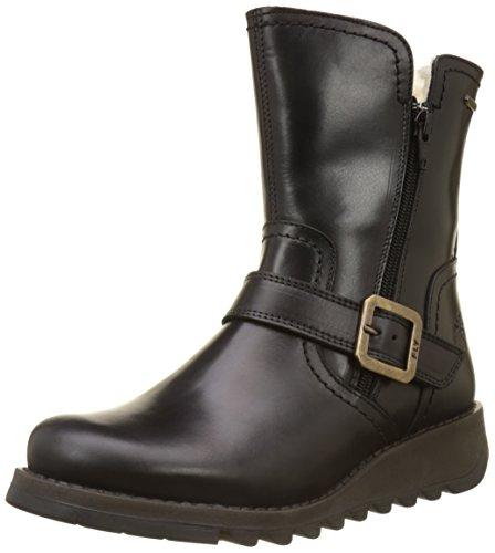 Fly London Seku - Svart Matta Varmt Foder (läder) Womens Boots Svart Matta