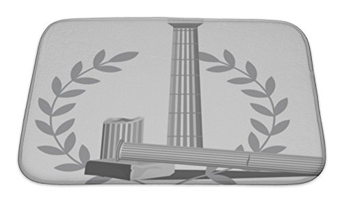 Doric Bath (Gear New Bath Rug Mat No Slip Microfiber Memory Foam, Antique Column Ruins,)