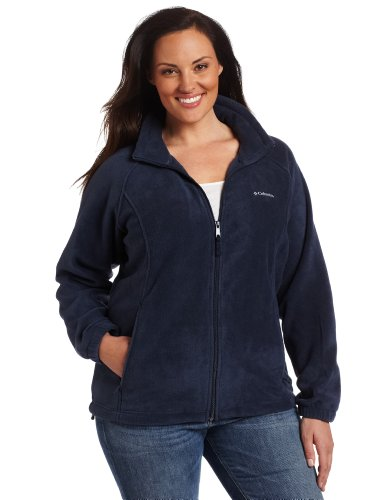 Columbia Women's Plus-Size Benton Springs Full Zip Plus, Columbia Navy, 2X ()