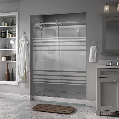 Delta Shower Doors SD3956998 Classic Semi-Frameless Contemporary Sliding Shower, 60