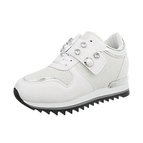Sneaker Sneakers Donna Zeppa da Design Scarpe Ital G High 126 Bianco UnIwqAZx