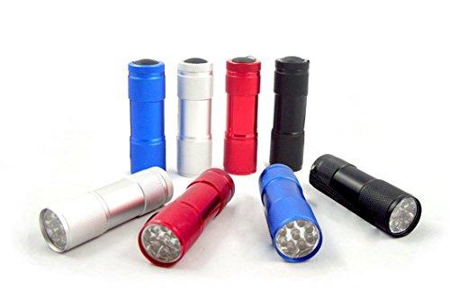 (Maxworks 30204 3-1/2-Inch Nine LED Aluminum Flashlights,)