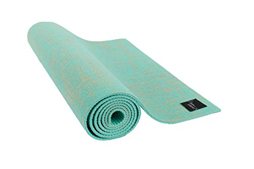 I am... Athletics: Natural Jute Exercise/Yoga Mat - Eco-Friendly, Durable, Extra Long with Carry Strap ...