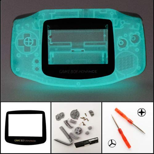 Cover Housing New (New Full Housing Shell Cover Case Pack for Nintendo Gameboy Advance GBA Repair Part-Glow in The Dark)