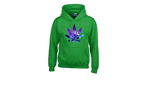 Artix hoja de marihuana Galaxy Sudaderas con capucha Weed los fumadores sudaderas con capucha: Amazon.es: Libros