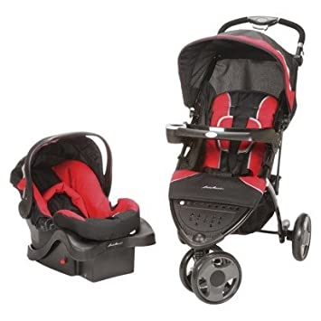 Amazon.com : Ed Bauer Trail Hiker 3 Wheel Travel System RED ...