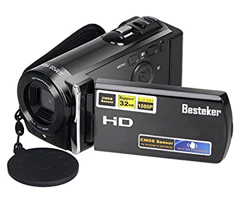 Camera Camcorders, Besteker Portable Video Camcorder 1080P 20MP HDMI Output 3.0'' TFT LCD Screen 16X Digital Zoom Camera Recorder (HDV-601S, (Waterproof Camera With Zoom)