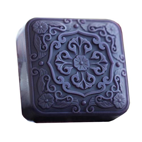 Grainrain Square Flowers White Diy Craft Art Handmade Soap Making Molds Flexible Soap Mold Silicone Soap Mould Soap