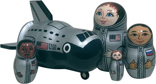 Space Shuttle Doll 5pc./5'' by Golden Cockerel (Image #1)