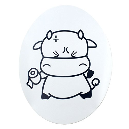TOOGOO(R) Sweet Cow Toilet Seat Cover Decal Sticker by TOOGOO(R) (Image #4)