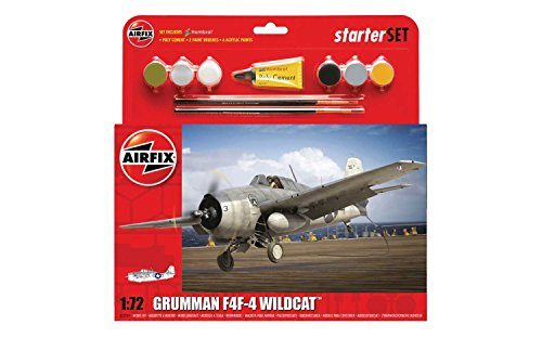 F4f 4 Wildcat Model - Airfix A55214 Grumman F4F-4 Wildcat Plastic Model Medium Starter Gift Set (1:72 Scale)