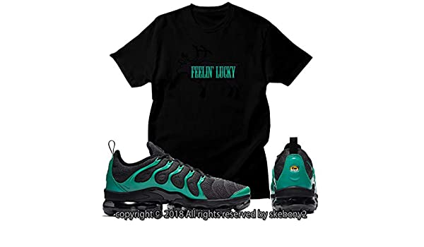 53a04c584d Custom T Shirt Matching Style of Nike AIR Vapormax Plus AVP 1-14-13 Green  at Amazon Men's Clothing store: