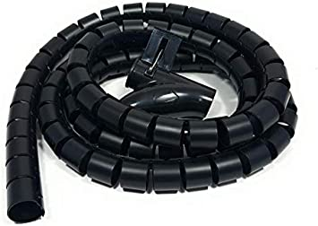 Bambelaa Kabelschlauch 1 5m 3 0m Kabelkanal Kürzbar Kunststoff Flexible Kabelorganisation 20mm 30mm Durchmesser Schwarz 3 0m X 20mm Bürobedarf Schreibwaren