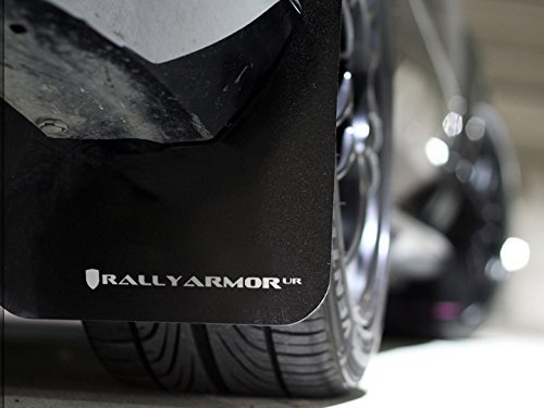 Rally Armor MF22-UR-BLK/WH Black, White Mud Flap with Logo (12+ Subaru Impreza 5dr Hatch/4dr Sedan UR)