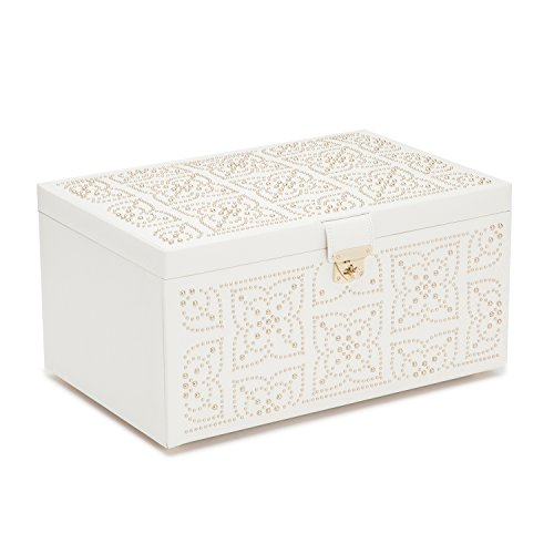 WOLF 308253 Marrakesh Large Jewelry Box, Cream