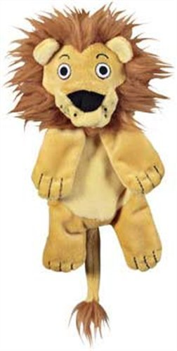 JW Pet Company Crackle Heads Leroy Lion Dog Toy, Medium