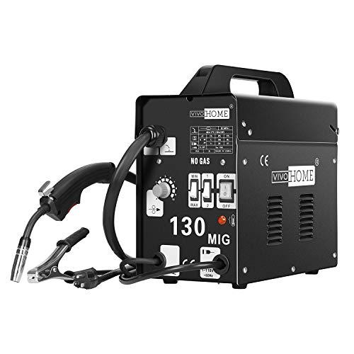 VIVOHOME Portable Flux Core Wire No Gas MIG 130 Welder Machine 110V Black (Best Flux Core Wire)