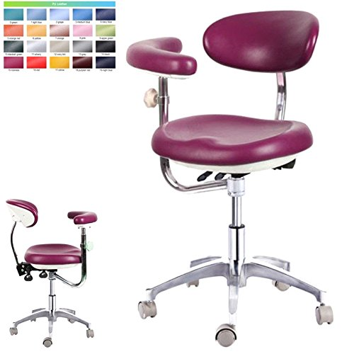(ZGood Case of 2 Units, PU Leather Dental Medical Chair Doctor's Stool Nurse's Chair Adjustable)