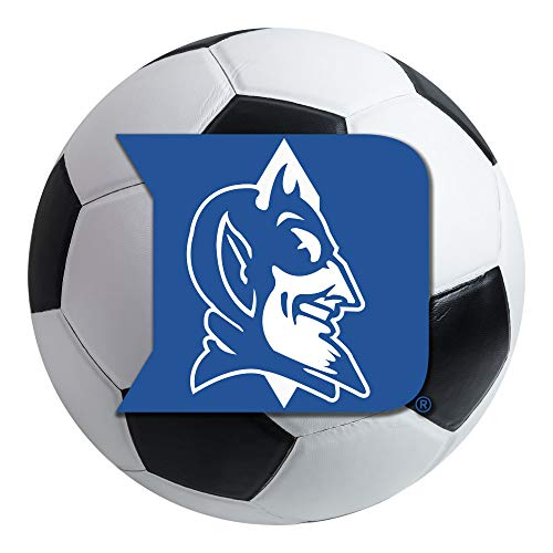 FANMATS NCAA Duke University Blue Devils Nylon Face Soccer Ball Rug ()