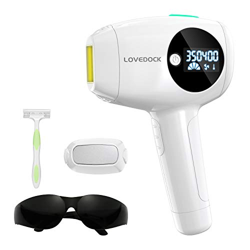 Laser Hair Removal for Women and Men,LOVE DOCK IPL Hair Removal System Permanent and Painless Hair Remover with Ice Cool Function for Removing Unwanted Facial/Chin/Underarm/Back/Leg/Bikini Line Hair