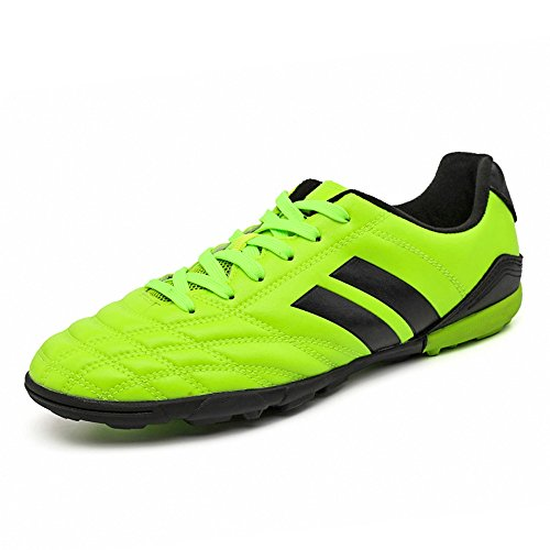 ce6539060 Galleon - YING LAN Men's Boys Turf Cleats Soccer Athletic Football Outdoor/Indoor  Sports Shoes TF Green
