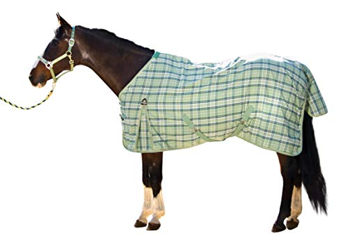Kensington KPP Mini Horse Protective Fly Sheet, Mint Ice Plaid, Medium