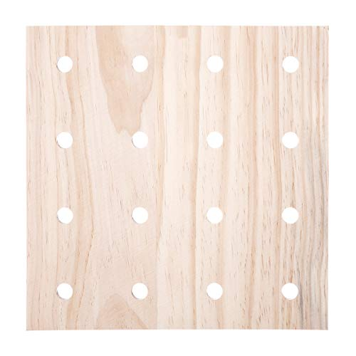 - Darice 30053052 System: Wooden Pegboard Base, Unfinished, 12 x 12 Inches, Natural